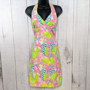 Lilly Pulitzer 100% Cotton Colorful halter dress